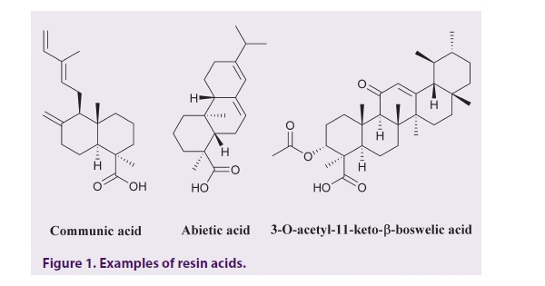 Examples of resin acids.