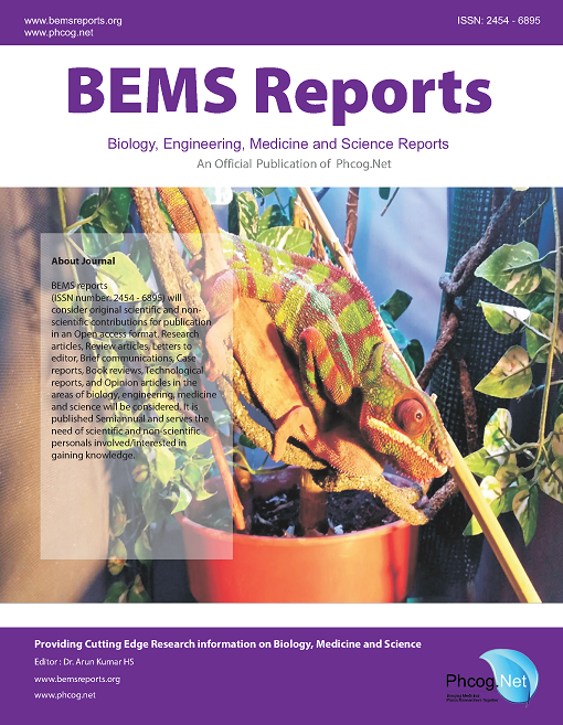 View Vol. 1 No. 1 (2015): BEMS Reports